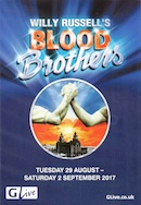 Blood Brothers, G Live, Guildford (programme cover).