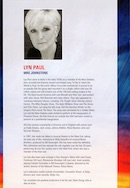 Biography of Lyn Paul from the Blood Brothers programe (G Live, Guildford).