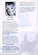 Biography of Lyn Paul from the Blood Brothers programme (Norwich Theatre Royal, 1977).