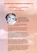 Biography (insert) of Lyn Paul from the Blood Brothers programme (week commencing 2nd December 2002).