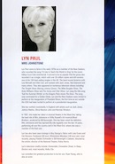 Biography of Lyn Paul from the Blood Brothers programe (Richmond Theatre, Richmond upon Thames, 2010).