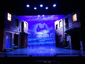 The Blood Brothers stage set, Empire Theatre, Sunderland.