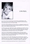 Biography of Lyn Paul from The Biz! programme.