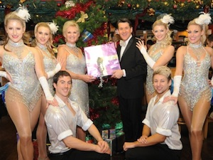 Lyn Paul and the cast of the Cromer Christmas Show 2014.