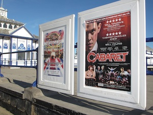Poster advertising 'Cabaret', near to the pier in Eastbourne.