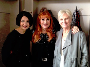 Jessica Martin, Rose Marie and Lyn Paul backstage at the Theatre Royal, Windsor.