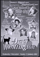 Page from the Dick Whittington programme.
