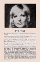 Biography of Lyn Paul from the Jack And The Beanstalk programme.