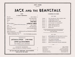 Jack And The Beanstalk programme (centre pages).