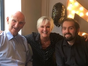 Lyn pictured with her dad Dennis (left) and her son Ryan (right).