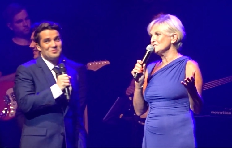 Lyn Paul and Joe McElderry at the Liverpool Empire, 18 July 2016.