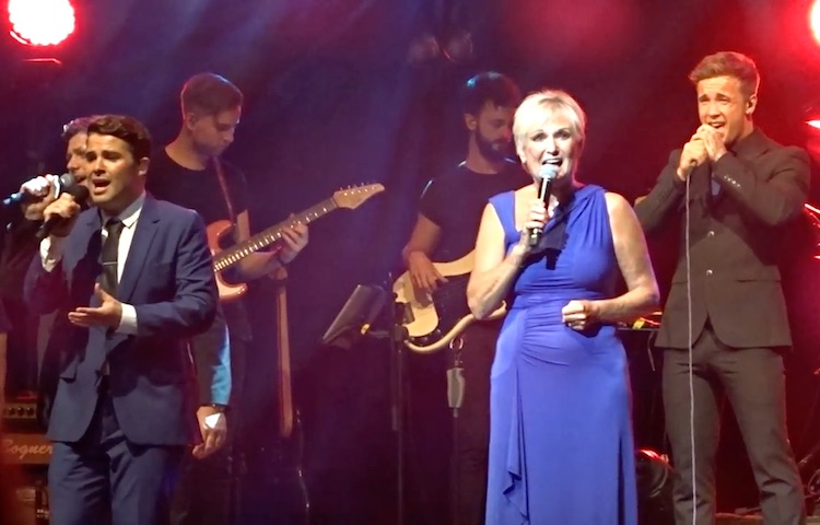 Lyn Paul and Joe McElderry at the Liverpool Empire, 18 July 2017.