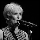Lyn Paul on stage at the Theatre Royal, Windsor, 20th March 2016.