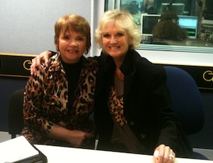 Lyn Paul pictured with Dana, 8th May 2012.