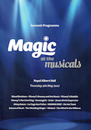 Magic at the Musicals (souvenir programme - front cover).
