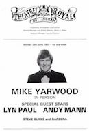 Mike Yarwood In Person: Theatre Royal Nottingham - page from programme.