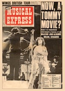 New Musical Express, 16th December 1972 (front cover).