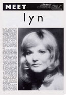 Biography of Lyn Paul from the New Seekers' 1973 tour programme (page 11).