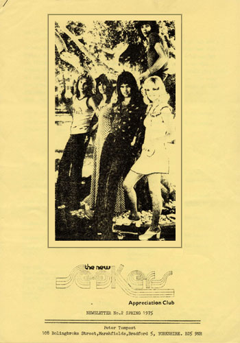 New Seekers' Appreciation Club Newsletter, Spring 1975.