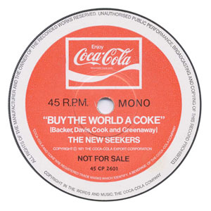 Buy The World A Coke (centre label).