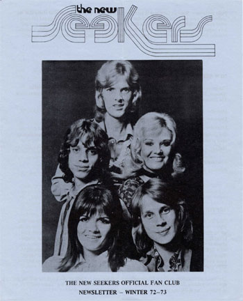 New Seekers' Official Fan Club Newsletter, Winter '72-73.