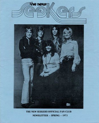 New Seekers' Official Fan Club Newsletter, Spring 1973.