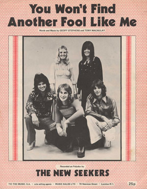 You Won't Find Another Fool Like Me (sheet music).