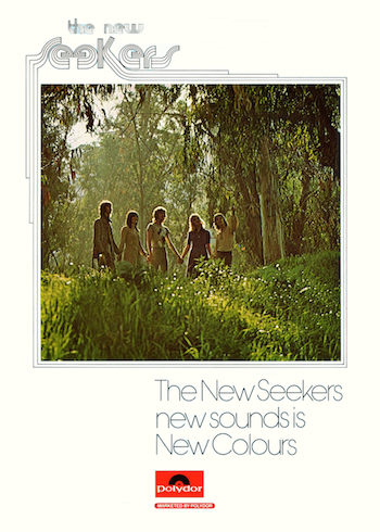 Advertisment for the New Seekers' album 'New Colours' from the Royal Variety Performance programme.