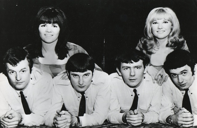 Lyn Paul pictured with the Nocturnes.