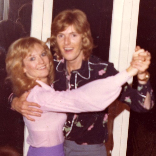 Lyn Paul and Peter Doyle - photo taken in Theale, 1972.