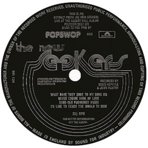 Popswop flexi disc.