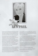 Biography of Lyn Paul from the Rhinestone Mondays programme (Mercury Theatre, 2011).