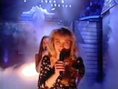 Nikki Belsher singing backing vocals for Samantha Janus on 'A Message To Your Heart' (Top Of The Pops).