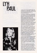 Biography of Lyn Paul from the Starrtime '78 programme.
