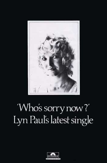 Advertisment for 'Who's Sorry Now'.